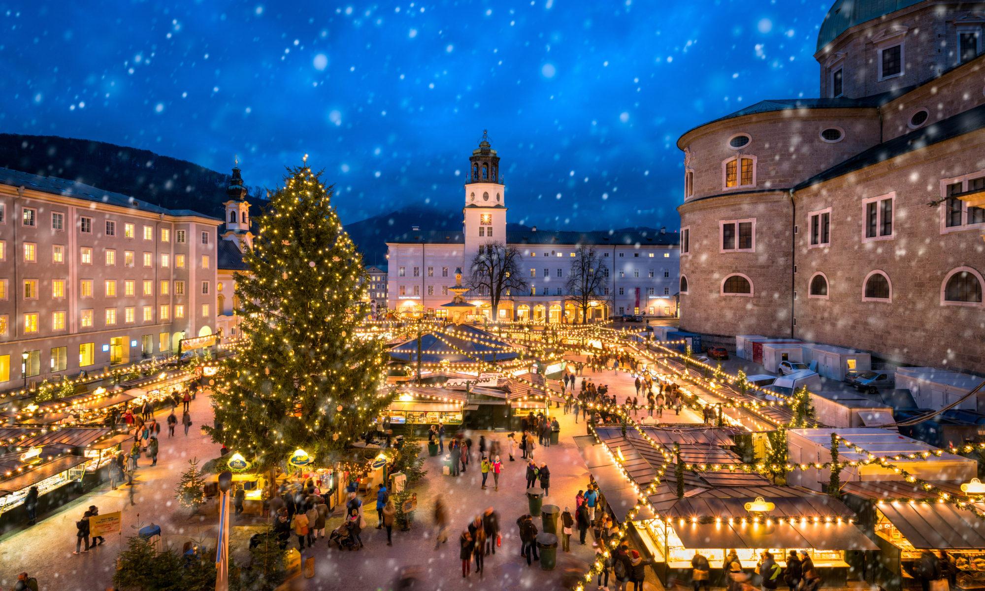 Targ świąteczny w Salzburgu w Austrii