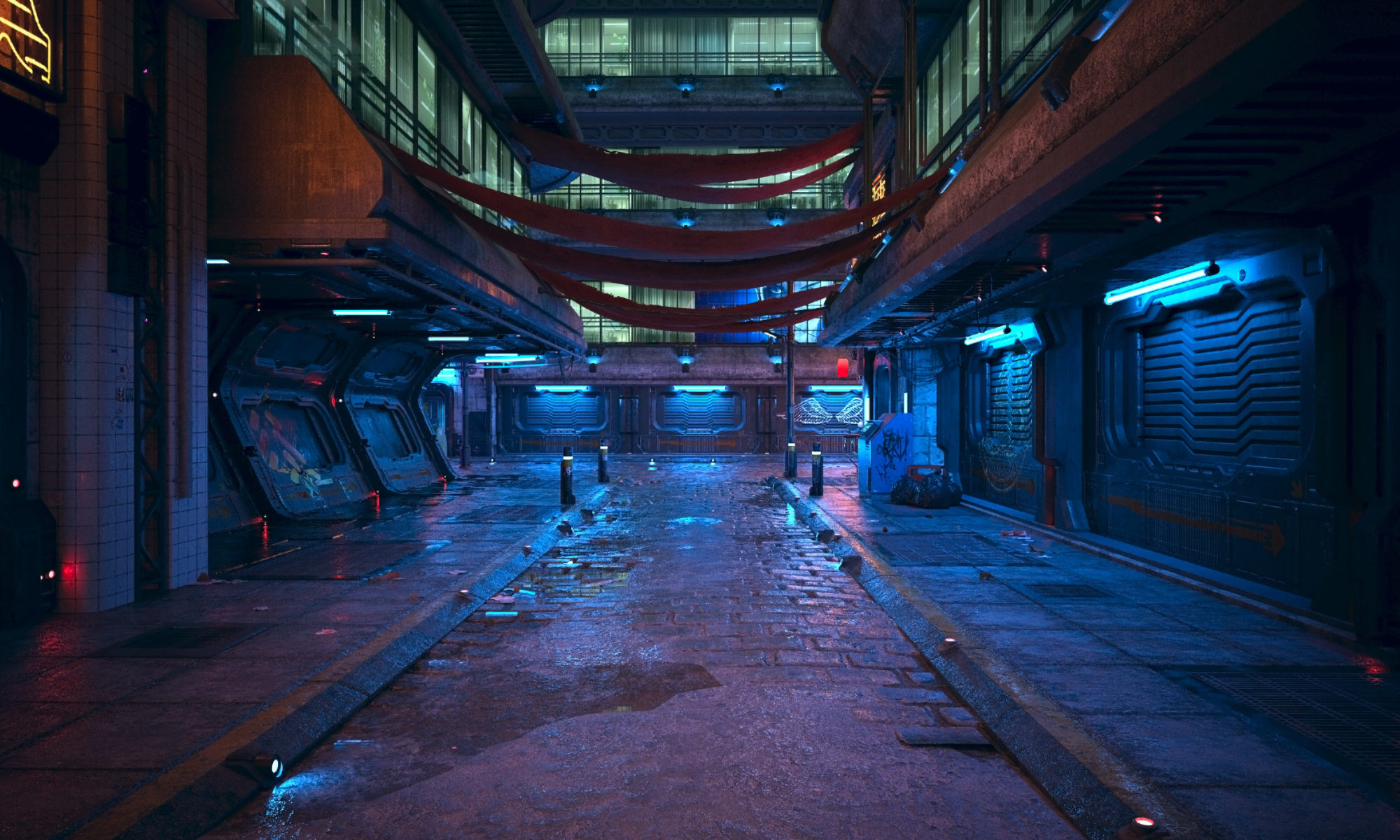 Miasto w stylu cyberpunk