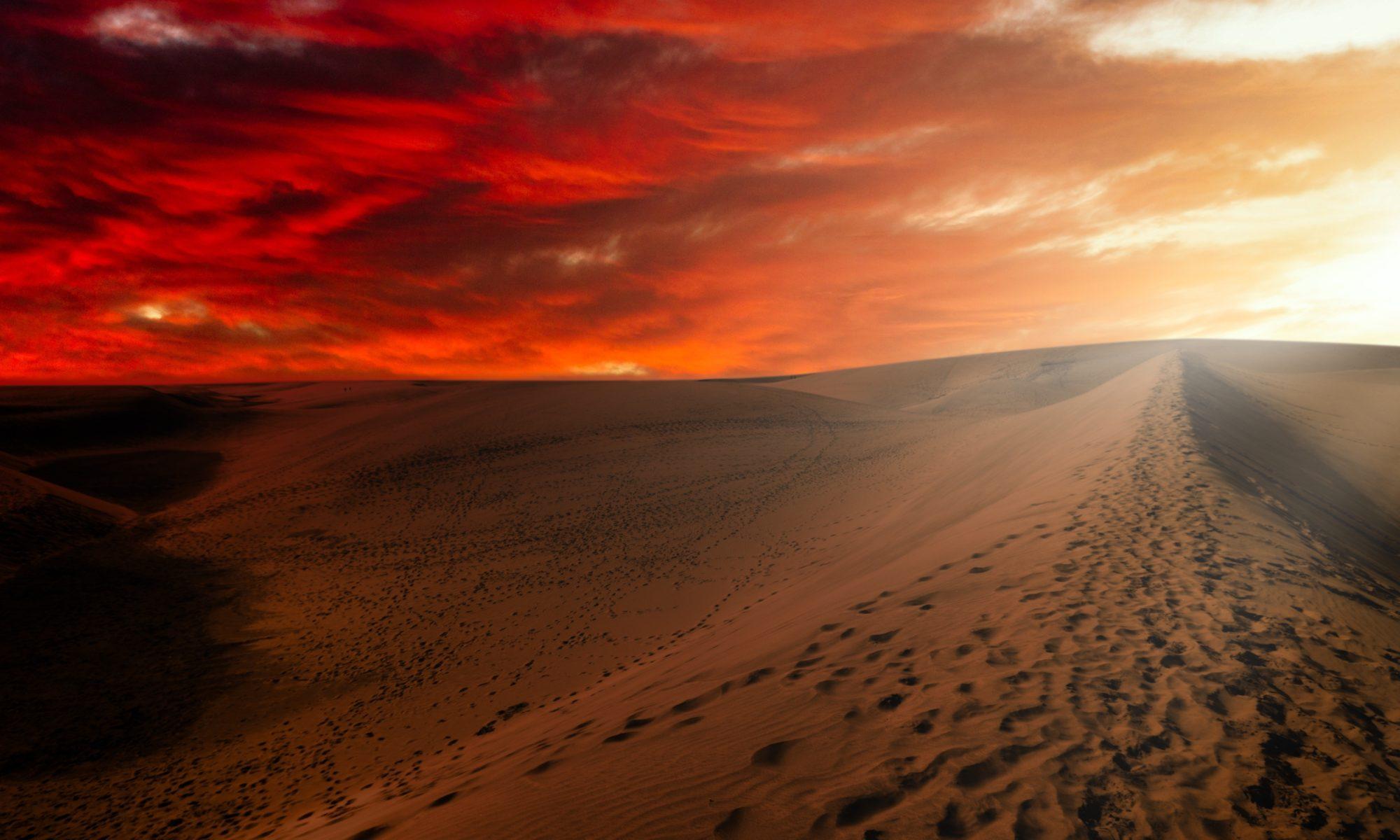 diuna wizualizacja pustyni